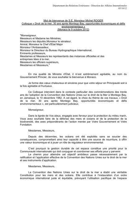 Mot De Bienvenue De Se Monsieur Michel Roger Colloque A Droit