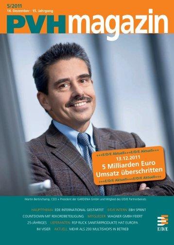 Ausgabe 5 / 2011 - E/D/E Einkaufsbüro Deutscher Eisenhändler ...