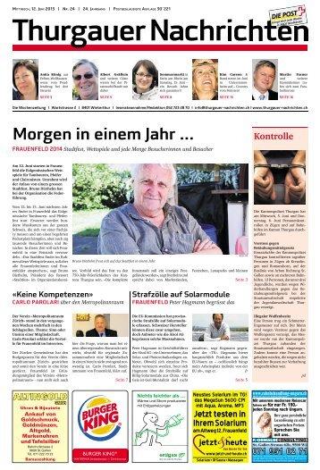 Stadtfest heute in einem Jahr - Frauenfeld 2014 | Eidg. Tambouren ...