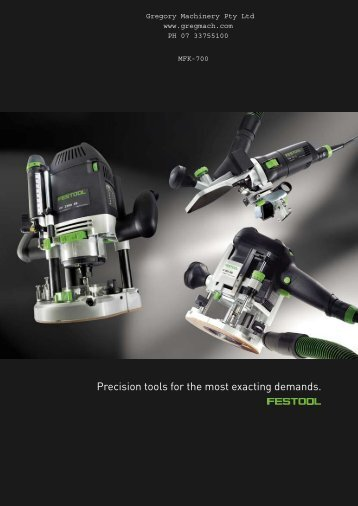 Precision tools for the most exacting demands. - Gregory Machinery