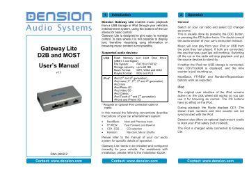 Dension gateway lite bt installation guide