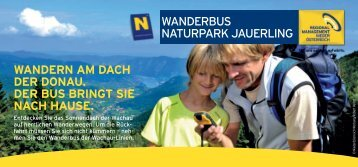 wanderbus naturpark jauerling wandern am dach der donau. der ...