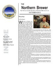 Oct 2012 Newsletter - Great Northern Brewers Club