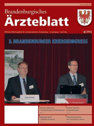 April_2013_Aerzteblatt_V1.indd - Landesärztekammer Brandenburg