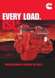 moteurs automotive européens 280-400 ps - Cummins Engines