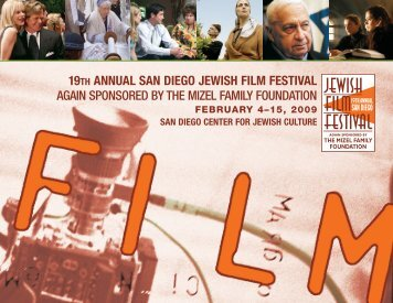 19th annual san diego jewish film festival again sponsored by the ...