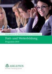 Fort- und Weiterbildung - Asklepios