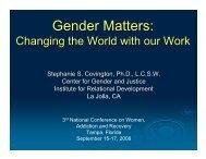 Gender Matters: - Women, Children and Families