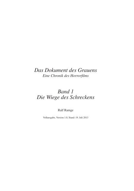 1896 - Das Dokument des Grauens