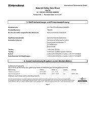 Material Safety Data Sheet 1. Stoff-/zubereitungs- und ... - Pinmar