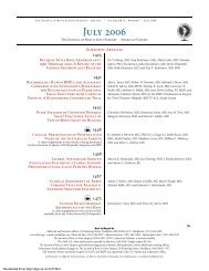Table of Contents - The Journal of Bone & Joint Surgery