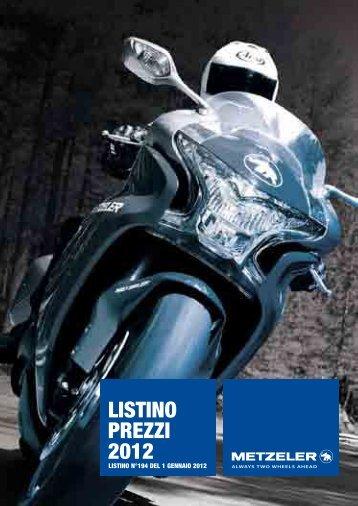 LISTINO PREZZI 2012 - Pneumatici per Moto a Roma