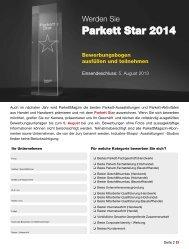 Parkett Star 2014 - Snfachpresse.de