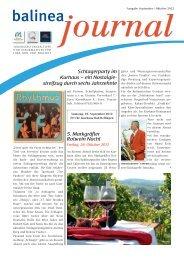 Balinea Journal September/Oktober - Bad Bellingen