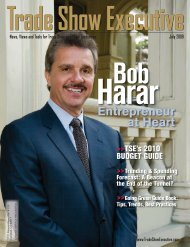 the July 2009 Issue in PDF Format - Trade Show Executive