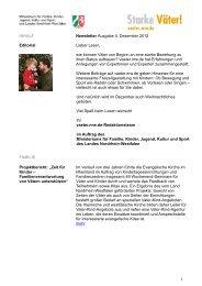 1 INHALT Newsletter Ausgabe 4, Dezember 2012 ... - Starke Väter