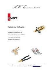 10.2011 WBT Preisliste Smal..xlsx - Erni Hifi