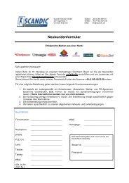 dieses Formular - Scandic Outdoor GmbH