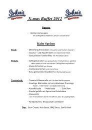 X-mas Buffet 2012 - Strikee´s Bowling and american Sportsbar