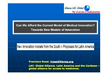 New innovation models from the South I- Proposals for Latin America