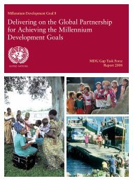 Delivering on the Global Partnership for Achieving the MDGs
