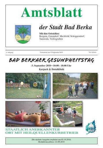 Bad Berkaer Gesundheitstag - Kurstadt Bad Berka