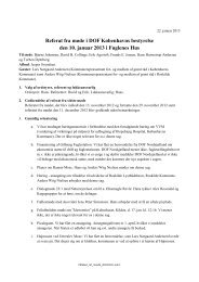 Referat fra møde i DOF Københavns bestyrelse den 10. januar 2013 ...