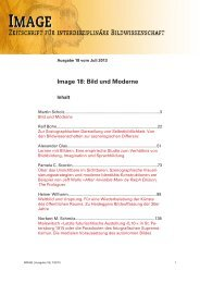Bild und Moderne - Gesellschaft für interdisziplinäre Bildwissenschaft