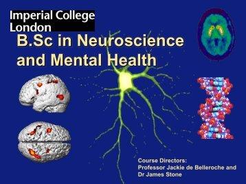 B.Sc in Neuroscience and Mental Health