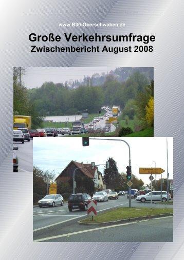 Zwischenbericht August 2008 - B30 Oberschwaben