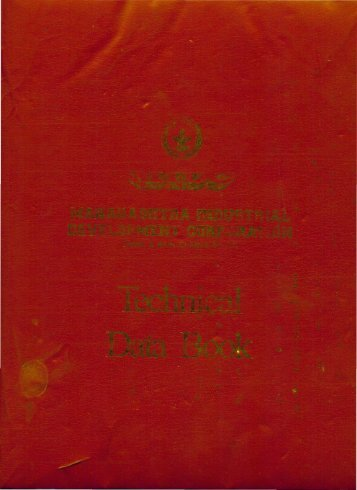 technical data book - Maharashtra Industrial Development Corporation