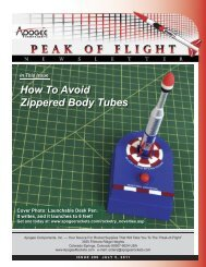 How To Avoid Zippered Body Tubes - Apogee Components