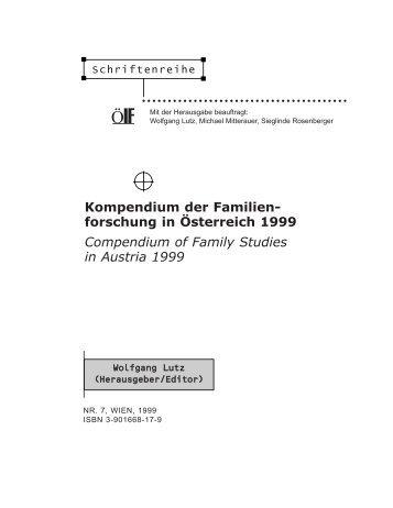 Kompendium der Familienforschung in Österreich, Schriftenreihe Nr. 7