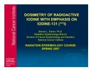 dosimetry of radioactive iodine with emphasis on iodine-131