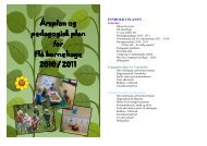 Her kan du lese/laste ned pedagogsik plan for ... - Flå kommune
