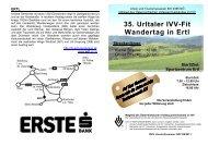 35. Urltaler IVV-Fit Wandertag in Ertl Streckenlänge - Gemeinde Ertl