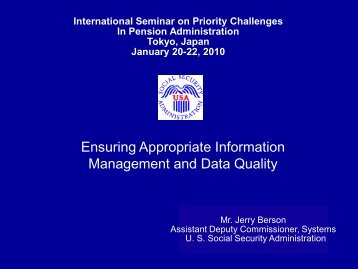 Ensuring Appropriate Information Management and Data Quality