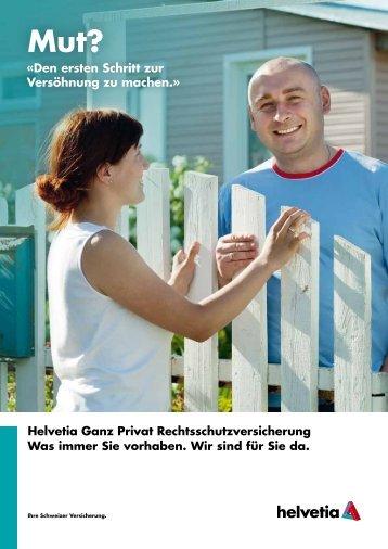 Folder - Rechtsschutzversicherung - Helvetia
