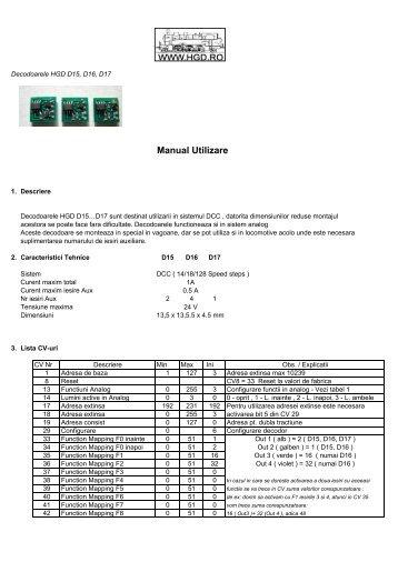 Manual Utilizare - HGD
