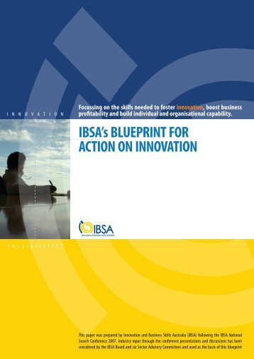 IBSA's BLUEPRINT FOR ACTION ON INNOVATION
