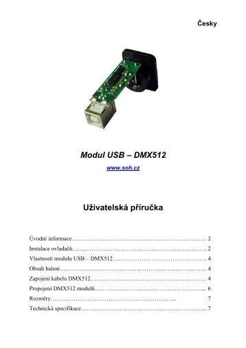 Modul interface USB - DMX512 - Česky
