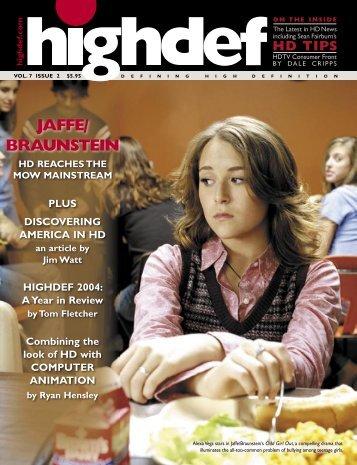 JAFFE/ BRAUNSTEIN - highdef magazine