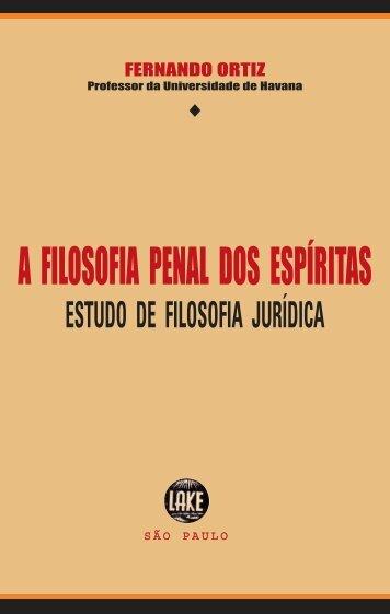A Filosofia Penal dos Espíritas - ViaSantos