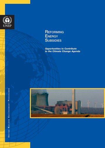 REFORMING ENERGY SUBSIDIES - UNEP