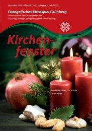 Gemeindebrief 1-2013 - der Evangelischen Kirchengemeinde ...