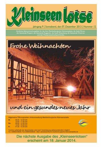 """Die nächste Ausgabe des """"Kleinseenlotsen"""" - Amt Mecklenburger ..."""