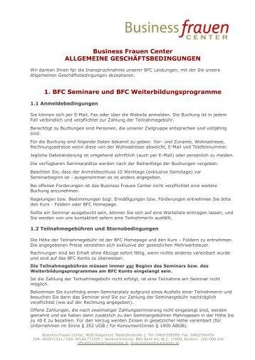AGBs - Business frauen Center Kärnten