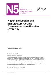 N5 Design and Manufacture Course Assessment Specification