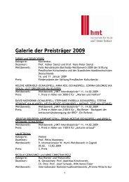 Galerie der Preisträger 2009 - Hochschule für Musik und Theater ...