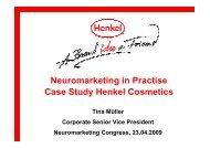 Neuromarketing in Practise Case Study Henkel Cosmetics
